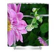 Pink Flower Shiver Shower Curtain