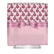 Pink Flowered Hearts  Shower Curtain