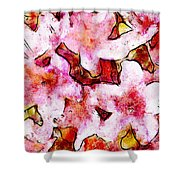 Pink Flowers 2 Shower Curtain
