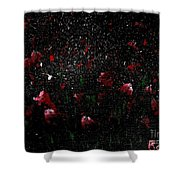 Pink Flowers In Twilight Shower Curtain
