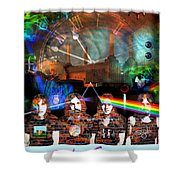 Pink Floyd Collage Shower Curtain