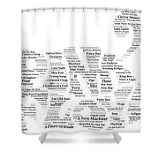 Pink Floyd Song Mosaic Shower Curtain