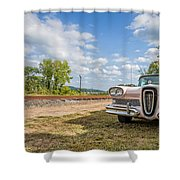 Pink Ford Edsel  Shower Curtain