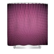 Pink Fractal Background Shower Curtain