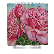 Pink Frillies Shower Curtain
