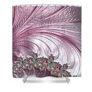 Pink Froth A Fractal Abstract Shower Curtain