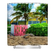 Pink Gate Shower Curtain