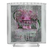Pink Gazebo Shower Curtain