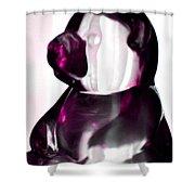Pink Glass Bear Shower Curtain