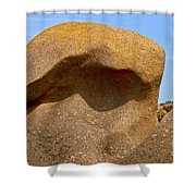 Pink Granite Lighthouse Shower Curtain