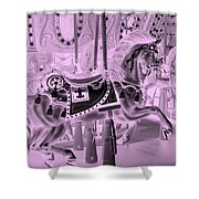 Pink Horse Shower Curtain