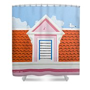 Pink House Shower Curtain