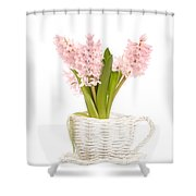 Pink Hyacinths Shower Curtain