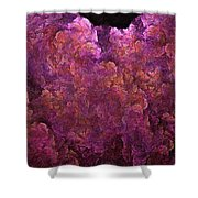 Pink Hydrangea Fractal Blossoms Shower Curtain
