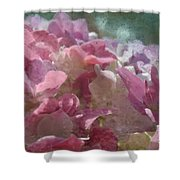 Pink Hydrangea Photoart I Shower Curtain
