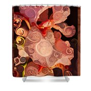Pink Iris As A Burst Of Color Flower Abstract Art Shower Curtain