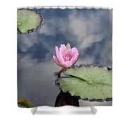 Pink Lily Monet Shower Curtain