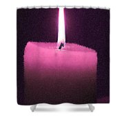 Pink Lit Candle Shower Curtain