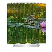 Pink Lotus Flower Shower Curtain