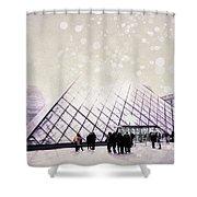 Pink Louvre Paris Shower Curtain