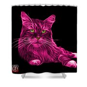 Pink Maine Coon Cat - 3926 - Bb Shower Curtain
