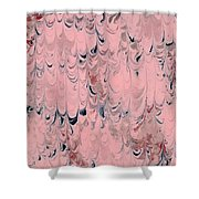 Pink Marble Shower Curtain
