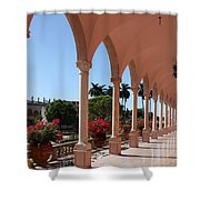 Pink Marble Colonnade Shower Curtain