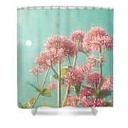 Pink Milkweed Shower Curtain