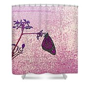 Pink Monarch Shower Curtain