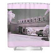 Pink Motel Shower Curtain