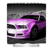 Pink Mustang  Shower Curtain