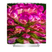 Pink Mystery Flower Shower Curtain