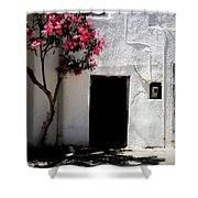 Pink Oleander By The Door Shower Curtain