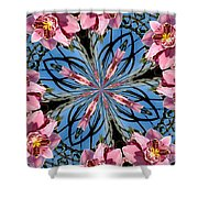 Pink Orchid Kaleidoscope 2 Shower Curtain
