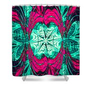 Pink Overlay Shower Curtain