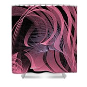 Pink Panels Shower Curtain