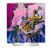 Pink Parrot Shower Curtain