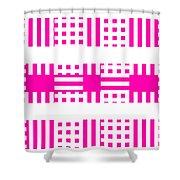 Pink Patterns Shower Curtain