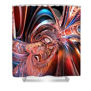 Pink Peacock Abstract Fx  Shower Curtain