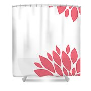 Pink Peony Flowers Shower Curtain