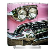 Pink Power Shower Curtain