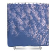 Pink Puffy Clouds Shower Curtain