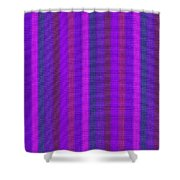 Pink Purple And Blue Striped Textile Background Shower Curtain