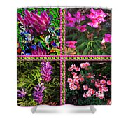 Pink Purple Flowers Captured At The Riverside Ridge At Oakville Ontario Canada Collage Beautiful     Shower Curtain