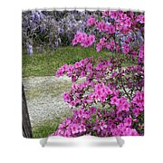 Pink Purple Mississippi Blooms Shower Curtain
