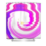 Pink-reunion Island-indian Ocean Shower Curtain