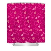 Pink Ribbons  Shower Curtain