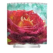 Pink Rose - Digital Paint II Shower Curtain