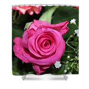 Pink Rose Adds Colour Shower Curtain