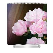 Pink Rose Cluster Shower Curtain